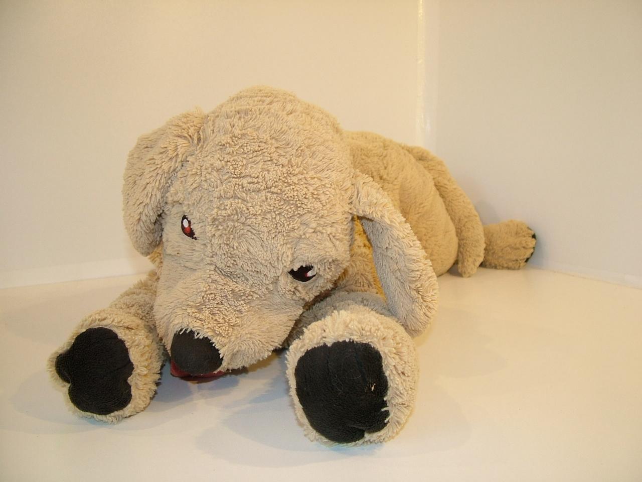 Onwijs ikea knuffel bruine hond groot - Knuffels / Handpoppen JR-56